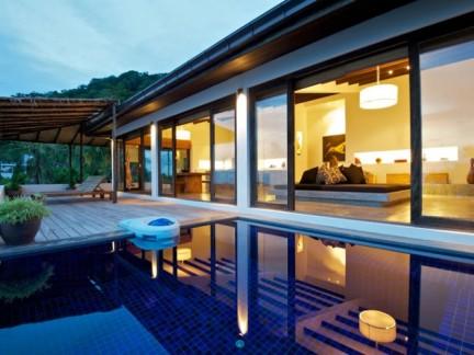 300平别墅简约风格私家庭院景观设计效果图