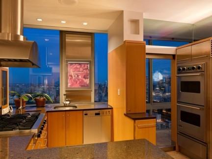 70平小户型简约风格敞开式厨房装修图