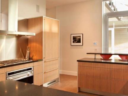 80平小户型简约风格敞开式厨房装修图