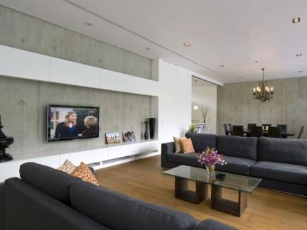 清新大气客厅现代风格新房装修设计案例