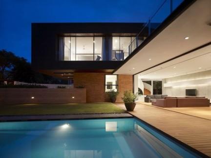 时尚简约风格别墅私家庭院景观设计效果图