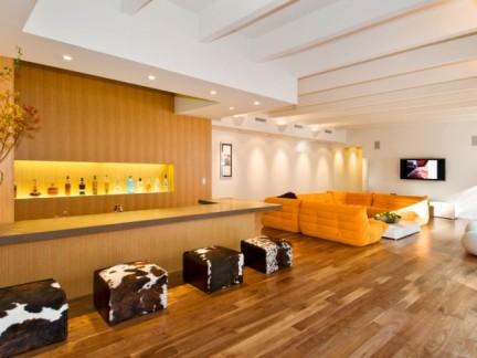 橙色三室两厅时尚装修设计图