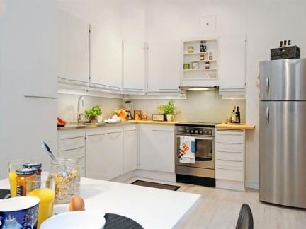 50平小户型简约风格敞开式厨房装修图