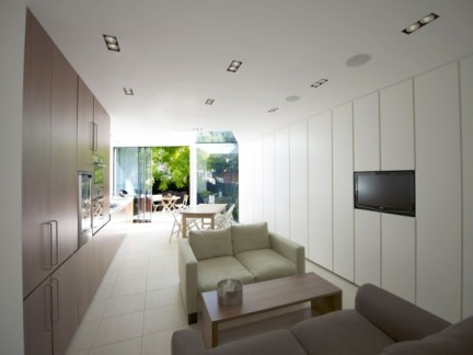 现代客厅沙发白色家具装修效果图