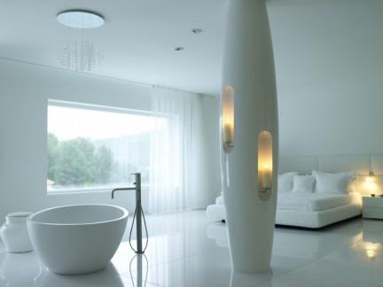 创意设计风格公寓白色室内地板砖装修图