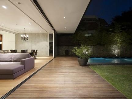 现代简约风格别墅私家庭院景观设计效果图