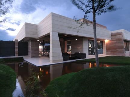 现代风格别墅私家庭院景观设计效果图