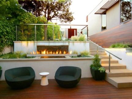 美式风格别墅私家庭院景观设计效果图