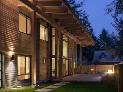 200平古典风格别墅私家庭院景观设计效果图