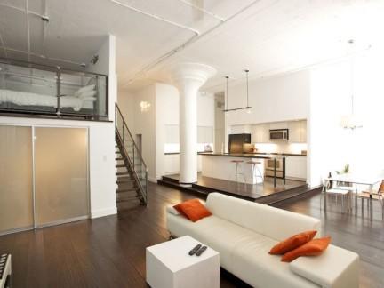 简约风格敞开式厨房三层别墅装修案例