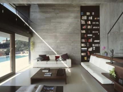350平别墅现代风格客厅实景图