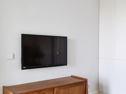 明亮白色简约风格电视柜图片大全