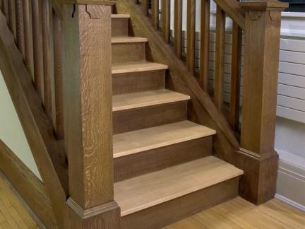 中式自建房实木楼梯装修设计