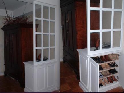 现代中西混搭美居进门玄关鞋柜设计图