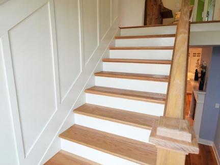 乡村美式实木楼梯装修设计