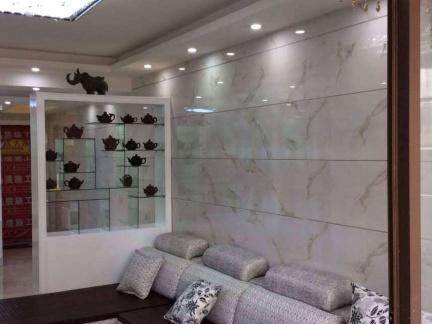 客厅墙面挂砖效果图_2018客厅瓷砖效果图大全-房天下装修效果图