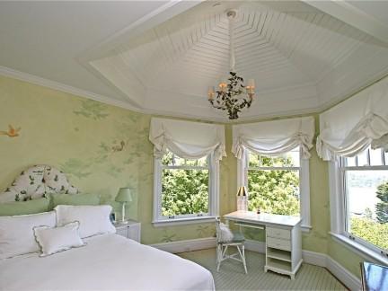 创意设计风格卧室锥形吊顶装修效果图图片