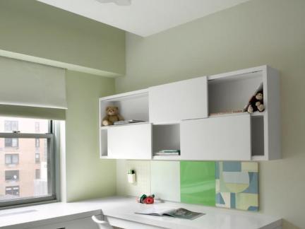现代简约儿童房定制组合柜精装设计