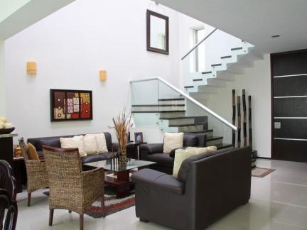 韩式复式楼客厅装修设计