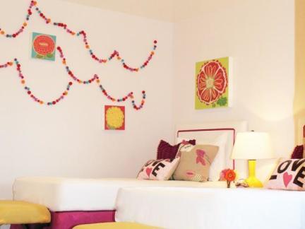 时尚儿童房墙面装饰图片欣赏