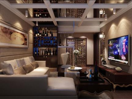 奢华大气欧式新古典别墅客厅吊顶设计