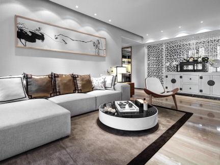 华丽中式古典风格五居室客厅家居安装设计