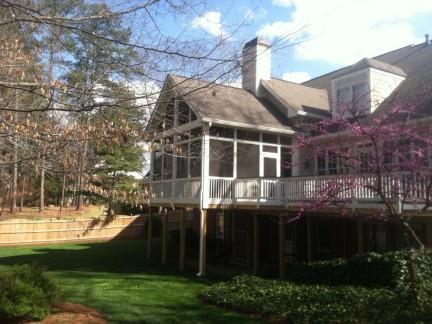 豪华整体别墅二层围栏外观装修效果图