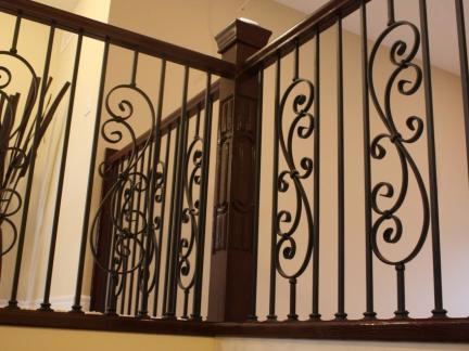 美式铁艺楼梯护栏图片欣赏
