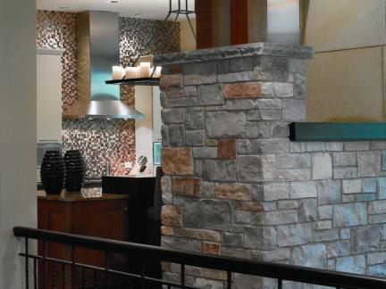 后现代铁艺楼梯护栏装修设计