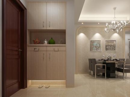 100平四居室入门鞋柜装修设计