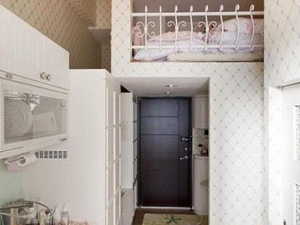 小户型带阁楼开放式厨房室内装修