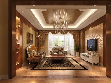 欧式风格客厅飘窗装修效果图图片