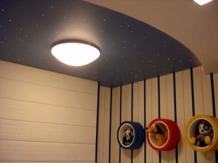 当代风格儿童房仿真夜空吊顶吸顶灯图片欣赏