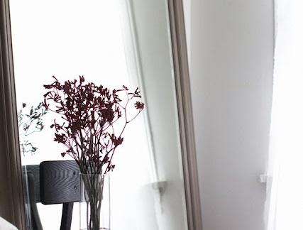 朴素简单小户型卧室大镜子装修效果图