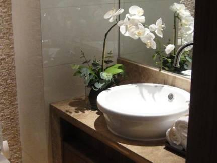 中式风格小户型卫生间经典洗手池图片欣赏