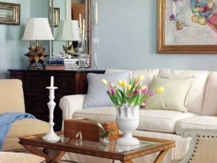 欧式古典风格客厅茶几设计样板间