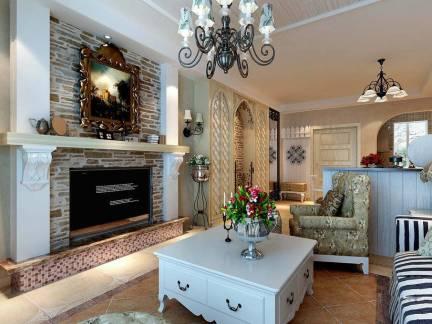 欧美风格别墅客厅壁炉装修设计