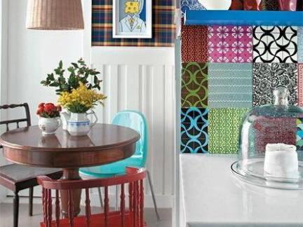 创意精巧简约风格餐厅背景墙图片欣赏