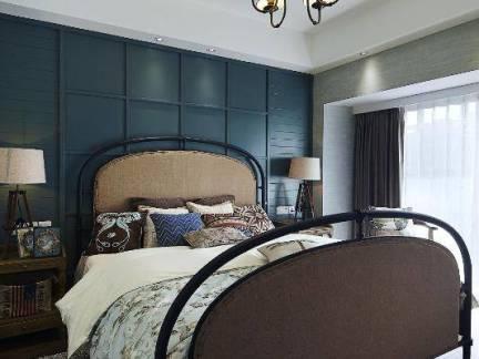 美式现代卧室背景墙装修设计