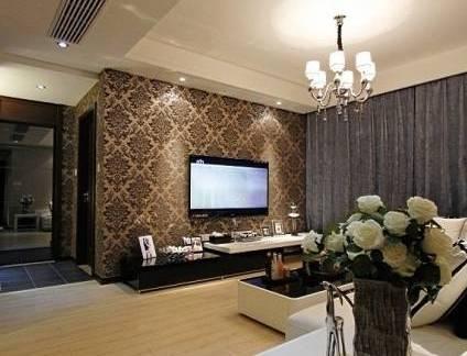 大型客厅电视背景墙装修设计
