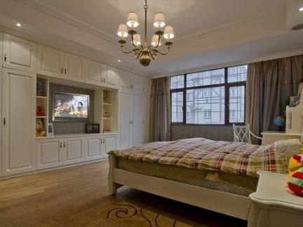 160平米欧美风格卧室电视柜装修设计