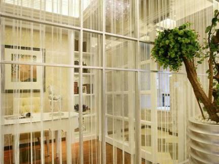 简欧风格复式楼书房飘窗装饰图片欣赏