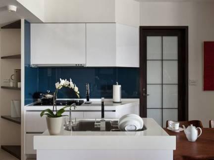 现代别墅开放式厨房装修设计