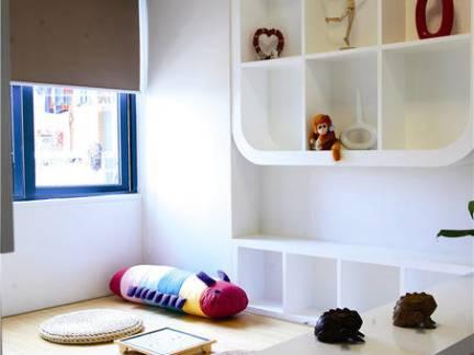 96平米现代简约风格儿童房榻榻米设计效果图