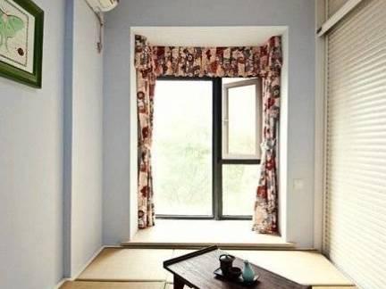 简洁通透日式风格飘窗榻榻米装修效果图