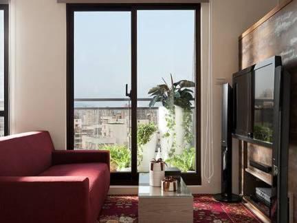 简约风格小户型客厅电视墙装修设计
