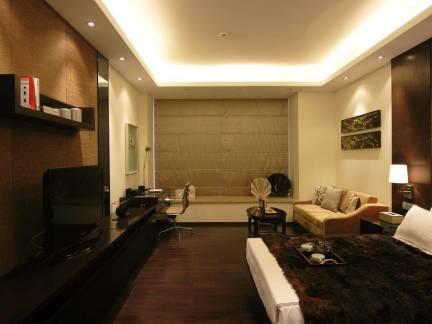 新古典风格四居室主卧室深色电视柜图片欣赏