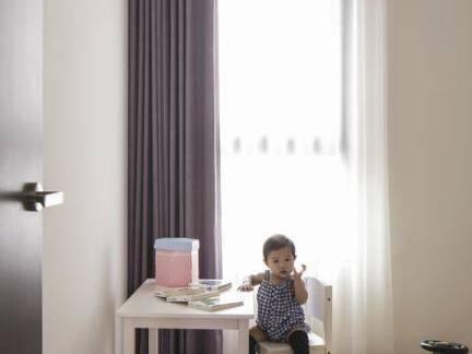 现代简单装修儿童房窗帘欣赏