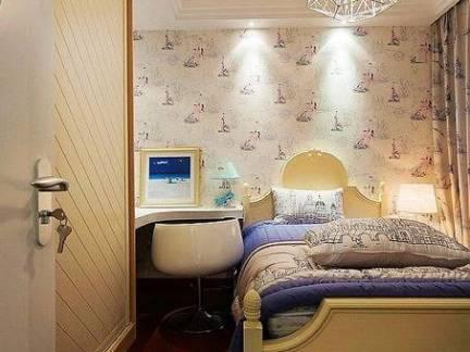 木质元素现代卧室吊顶创意图