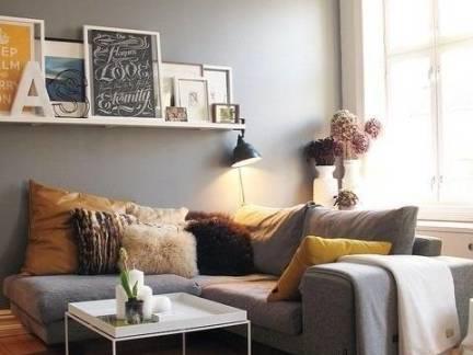 北欧风格小户型客厅沙发抱枕装修设计